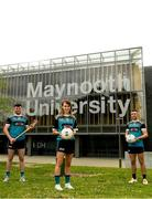 8 June 2021; Maynooth University GAA players Meath footballer Mary Kate Lynch with, from left, Kilkenny hurler Conor Drennan and Kildare footballer Shane O'Sullivan at the launch of the new scholarship agreement between the Gaelic Players Association (GPA) and Maynooth University. Under the agreement, four fully-funded scholarships will be available to inter-county players annually, with successful applicants to be known as 'Maynooth University/GPA Scholars'. Photo by Matt Browne/Sportsfile