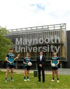 8 June 2021; Paul Davis, Maynooth University Head of Sport, pictured with, from left, Maynooth University GAA players Kilkenny hurler Conor Drennan, Meath footballer Mary Kate Lynch and Kildare footballer Shane O'Sullivan at the launch of the new scholarship agreement between the Gaelic Players Association (GPA) and Maynooth University. Under the agreement, four fully-funded scholarships will be available to inter-county players annually, with successful applicants to be known as 'Maynooth University/GPA Scholars'. Photo by Matt Browne/Sportsfile