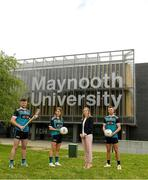 8 June 2021; Jenny Duffy, GAA Development Manager at Maynooth University, pictured with, from left, Maynooth University GAA players Kilkenny hurler Conor Drennan, Meath footballer Mary Kate Lynch and Kildare footballer Shane O'Sullivan at the launch of the new scholarship agreement between the Gaelic Players Association (GPA) and Maynooth University. Under the agreement, four fully-funded scholarships will be available to inter-county players annually, with successful applicants to be known as 'Maynooth University/GPA Scholars'. Photo by Matt Browne/Sportsfile