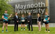 8 June 2021; Dr John McGinnity, centre, Maynooth University Admissions Officer, pictured with, from left, Maynooth University GAA players Kilkenny hurler Conor Drennan, Paul Davis, Maynooth University Head of Sport, Meath footballer Mary Kate Lynch, Jenny Duffy, GAA Development Manager at Maynooth University and Kildare footballer Shane O'Sullivan at the launch of the new scholarship agreement between the Gaelic Players Association (GPA) and Maynooth University. Under the agreement, four fully-funded scholarships will be available to inter-county players annually, with successful applicants to be known as 'Maynooth University/GPA Scholars'. Photo by Matt Browne/Sportsfile