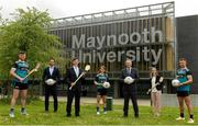 8 June 2021; Dr John McGinnity, centre, Maynooth University Admissions Officer, pictured with, from left, Maynooth University GAA players Kilkenny hurler Conor Drennan, Tom Parsons, recently appointed CEO of the GPA, Paul Davis, Maynooth University Head of Sport, Meath footballer Mary Kate Lynch, Jenny Duffy, GAA Development Manager at Maynooth University and Kildare footballer Shane O'Sullivan at the launch of the new scholarship agreement between the Gaelic Players Association (GPA) and Maynooth University. Under the agreement, four fully-funded scholarships will be available to inter-county players annually, with successful applicants to be known as 'Maynooth University/GPA Scholars'. Photo by Matt Browne/Sportsfile