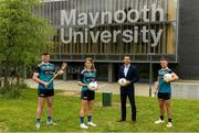 8 June 2021; Tom Parsons, recently appointed CEO of the GPA, pictured with, from left, Maynooth University GAA players Kilkenny hurler Conor Drennan, Meath footballer Mary Kate Lynch and Kildare footballer Shane O'Sullivan at the launch of the new scholarship agreement between the Gaelic Players Association (GPA) and Maynooth University. Under the agreement, four fully-funded scholarships will be available to inter-county players annually, with successful applicants to be known as 'Maynooth University/GPA Scholars'. Photo by Matt Browne/Sportsfile