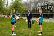 8 June 2021; Tom Parsons, recently appointed CEO of the GPA, pictured with, from left, Maynooth University GAA players Meath footballer Mary Kate Lynch, Kilkenny hurler Conor Drennan and Kildare footballer Shane O'Sullivan at the launch of the new scholarship agreement between the Gaelic Players Association (GPA) and Maynooth University. Under the agreement, four fully-funded scholarships will be available to inter-county players annually, with successful applicants to be known as 'Maynooth University/GPA Scholars'. Photo by Matt Browne/Sportsfile
