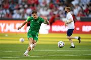 8 June 2021; James Collins of Republic of Ireland before the international friendly match between Hungary and Republic of Ireland at Szusza Ferenc Stadion in Budapest, Hungary. Photo by Alex Nicodim/Sportsfile