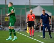 8 June 2021; Republic of Ireland manager Stephen Kenny during the international friendly match between Hungary and Republic of Ireland at Szusza Ferenc Stadion in Budapest, Hungary. Photo by Alex Nicodim/Sportsfile