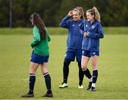 8 June 2021; Heather Payne, right, and goalkeeper Grace Moloney during a Republic of Ireland women training session at Versalavollur in Reykjavik, Iceland. Photo by Eythor Arnason/Sportsfile