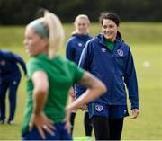 8 June 2021; Eve Badana during a Republic of Ireland women training session at Versalavollur in Reykjavik, Iceland. Photo by Eythor Arnason/Sportsfile