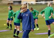 8 June 2021; Manager Vera Pauw during a Republic of Ireland women training session at Versalavollur in Reykjavik, Iceland. Photo by Eythor Arnason/Sportsfile