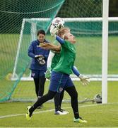 8 June 2021; Goalkeeper Grace Moloney during a Republic of Ireland women training session at Versalavollur in Reykjavik, Iceland. Photo by Eythor Arnason/Sportsfile
