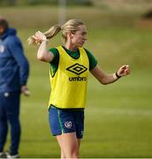 8 June 2021; Megan Connolly during a Republic of Ireland women training session at Versalavollur in Reykjavik, Iceland. Photo by Eythor Arnason/Sportsfile