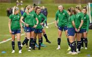 8 June 2021; Players during a Republic of Ireland women training session at Versalavollur in Reykjavik, Iceland. Photo by Eythor Arnason/Sportsfile