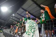 8 June 2021; Republic of Ireland supporters following the international friendly match between Hungary and Republic of Ireland at Szusza Ferenc Stadion in Budapest, Hungary. Photo by Alex Nicodim/Sportsfile