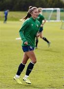 8 June 2021; Jamie Finn during a Republic of Ireland women training session at Versalavollur in Reykjavik, Iceland. Photo by Eythor Arnason/Sportsfile