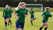8 June 2021; Diane Caldwell during a Republic of Ireland women training session at Versalavollur in Reykjavik, Iceland. Photo by Eythor Arnason/Sportsfile