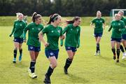 8 June 2021; Jessica Ziu and team-mates during a Republic of Ireland women training session at Versalavollur in Reykjavik, Iceland. Photo by Eythor Arnason/Sportsfile