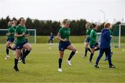 8 June 2021; Ciara Grant, left, and Denise O'Sullivan during a Republic of Ireland women training session at Versalavollur in Reykjavik, Iceland. Photo by Eythor Arnason/Sportsfile