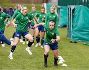 8 June 2021; Ciara Grant during a Republic of Ireland women training session at Versalavollur in Reykjavik, Iceland. Photo by Eythor Arnason/Sportsfile