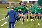 8 June 2021; Claire Walsh, right, and Megan Connolly during a Republic of Ireland women training session at Versalavollur in Reykjavik, Iceland. Photo by Eythor Arnason/Sportsfile