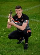 9 June 2021; Kerry footballer David Clifford with his PwC GAA / GPA Player of the Month in Football for May 2021 at Fossa GAA Club, Killarney, Co. Kerry. Photo by Diarmuid Greene/Sportsfile