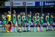 9 June 2021; Ireland players before the Women's EuroHockey Championships Pool A match between Ireland and Spain at Wagener Hockey Stadium in Amstelveen, Netherlands. Photo by Gerrit van Keulen/Sportsfile