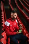 10 June 2021; Greg Bolger of Sligo Rovers poses with the SSE Airtricity / SWI Player of the Month Award for May 2021 at The Showgrounds in Sligo. Photo by Stephen McCarthy/Sportsfile