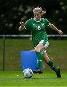 9 June 2021; Emily Corbett of Republic of Ireland during the Women's U19 International Friendly between Republic of Ireland and Northern Ireland at AUL Complex in Dublin. Photo by Piaras Ó Mídheach/Sportsfile