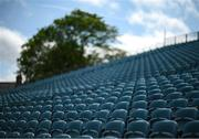 10 June 2021; A general view of seating at the RDS Arena ahead of Leinster Rugby's Guinness PRO14 Rainbow Cup game against Dragons on Friday, 11 June. The game has been designated a test event by the Irish Government whereby 1,200 supporters will be allowed access to attend the match. Photo by Stephen McCarthy/Sportsfile