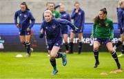 10 June 2021; Éabha O'Mahony during a Republic of Ireland women training session at Laugardalsvollur in Reykjavik, Iceland. Photo by Eythor Arnason/Sportsfile