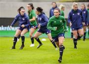 10 June 2021; Jessica Ziu during a Republic of Ireland women training session at Laugardalsvollur in Reykjavik, Iceland. Photo by Eythor Arnason/Sportsfile