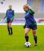 10 June 2021; Ellen Molloy during a Republic of Ireland women training session at Laugardalsvollur in Reykjavik, Iceland. Photo by Eythor Arnason/Sportsfile