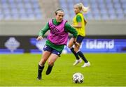 10 June 2021; Ciara Grant during a Republic of Ireland women training session at Laugardalsvollur in Reykjavik, Iceland. Photo by Eythor Arnason/Sportsfile