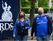 11 June 2021; Spectators arrive to the RDS before the Guinness PRO14 match between Leinster v Dragons at RDS Arena in Dublin. The game is one of the first of a number of pilot sports events over the coming weeks which are implementing guidelines set out by the Irish government to allow for the safe return of spectators to sporting events. Photo by Ramsey Cardy/Sportsfile