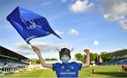 11 June 2021; Leinster supporter Ronan Moore, age 12, from Templeogue, Dublin, before the Guinness PRO14 match between Leinster v Dragons at RDS Arena in Dublin. The game is one of the first of a number of pilot sports events over the coming weeks which are implementing guidelines set out by the Irish government to allow for the safe return of spectators to sporting events. Photo by Harry Murphy/Sportsfile