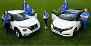 14 June 2021; Leinster Rugby players, from left, James Lowe, Devin Towner, Sene Naoupu, Jamison Gibson Park and head coach Leo Cullen at the announcement of the Windsor and Leinster Rugby sponsorship extension, at Leinster Rugby in UCD, Dublin. Photo by Seb Daly/Sportsfile