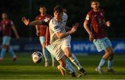 11 June 2021; Colm Whelan of UCD in action against Dave O'Leary of Cobh Ramblers during the SSE Airtricity League First Division match between UCD and Cobh Ramblers at UCD Bowl in Dublin. Photo by Matt Browne/Sportsfile