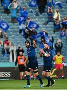 11 June 2021; Scott Fardy, left, and Michael Bent of Leinster leave the field during the Guinness PRO14 match between Leinster and Dragons at the RDS Arena in Dublin. Photo by Harry Murphy/Sportsfile