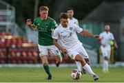 11 June 2021; Vilius Labutis of Cabinteely in action against Alec Byrne of Cork City during the SSE Airtricity League First Division match between Cork City and Cabinteely at Turners Cross in Cork. Photo by Michael P Ryan/Sportsfile