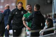 11 June 2021; Dylan McGlade of Cork City is substituted during the SSE Airtricity League First Division match between Cork City and Cabinteely at Turners Cross in Cork. Photo by Michael P Ryan/Sportsfile