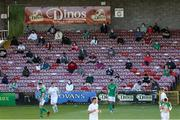 11 June 2021; Supporters look on while social distancing during the SSE Airtricity League First Division match between Cork City and Cabinteely at Turners Cross in Cork. Photo by Michael P Ryan/Sportsfile