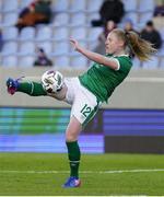11 June 2021; Amber Barrett of Republic of Ireland during the international friendly match between Iceland and Republic of Ireland at Laugardalsvollur in Reykjavik, Iceland. Photo by Eythor Arnason/Sportsfile