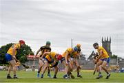 12 June 2021; Players battle for possession during the Allianz Hurling League Division 1 Group B Round 5 match between Clare and Kilkenny at Cusack Park in Ennis, Clare. Photo by Ramsey Cardy/Sportsfile