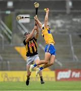 12 June 2021; Aidan McCarthy of Clare in action against Darragh Corcoran of Kilkenny during the Allianz Hurling League Division 1 Group B Round 5 match between Clare and Kilkenny at Cusack Park in Ennis, Clare. Photo by Ramsey Cardy/Sportsfile