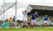 12 June 2021; Thomas Galligan of Cavan reacts to a missed opportunity on goal during the Allianz Football League Division 3 Relegation play-off match between Cavan and Wicklow at Páirc Tailteann in Navan, Meath. Photo by Stephen McCarthy/Sportsfile
