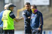 12 June 2021; Wexford manager Davy Fitzgerald with his selectors Saoirse Bulfin, left and Keith Rossiter after the Allianz Hurling League Division 1 Round 5 match between Wexford and Dublin at Chadwicks Wexford Park in Wexford. Photo by Matt Browne/Sportsfile
