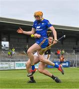 12 June 2021; Clare goalkeeper Eibhear Quilligan in action against Liam Blanchfield of Kilkenny during the Allianz Hurling League Division 1 Group B Round 5 match between Clare and Kilkenny at Cusack Park in Ennis, Clare. Photo by Ramsey Cardy/Sportsfile