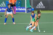 12 June 2021; Anna O'Flanagan of Ireland in action against Teresa Dalla Vittoria of Italy during the Women's EuroHockey Championships Pool C match between Ireland and Italy at Wagener Hockey Stadium in Amstelveen, Netherlands. Photo by Gerrit van Keulen/Sportsfile