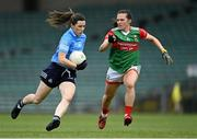 12 June 2021; Lyndsey Davey of Dublin in action against Fiona Doherty of Mayo during the Lidl Ladies National Football League Division 1 semi-final match between Dublin and Mayo at LIT Gaelic Grounds in Limerick. Photo by Piaras Ó Mídheach/Sportsfile