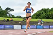 12 June 2021; Laura Mooney of Tullamore Harriers AC, Offaly, competing in the Senior Women's 3000m during day one of the AAI Games & Combined Events Championships at Morton Stadium in Santry, Dublin. Photo by Sam Barnes/Sportsfile