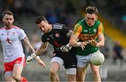 12 June 2021; David Clifford of Kerry in action against Niall Morgan of Tyrone during the Allianz Football League Division 1 semi-final match between Kerry and Tyrone at Fitzgerald Stadium in Killarney, Kerry. Photo by Brendan Moran/Sportsfile