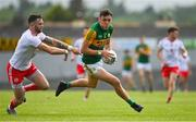 12 June 2021; David Clifford of Kerry  gets away from Ronan McNamee of Tyrone during the Allianz Football League Division 1 semi-final match between Kerry and Tyrone at Fitzgerald Stadium in Killarney, Kerry. Photo by Brendan Moran/Sportsfile